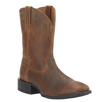 Ariat Mens Heritage Roper Wide Square Toe Boots – Powder Brown